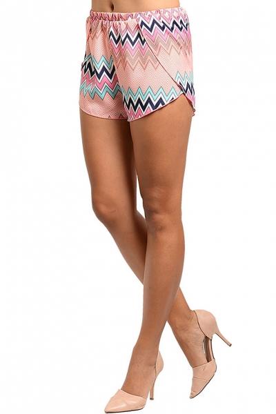 zigzag pastel shorts