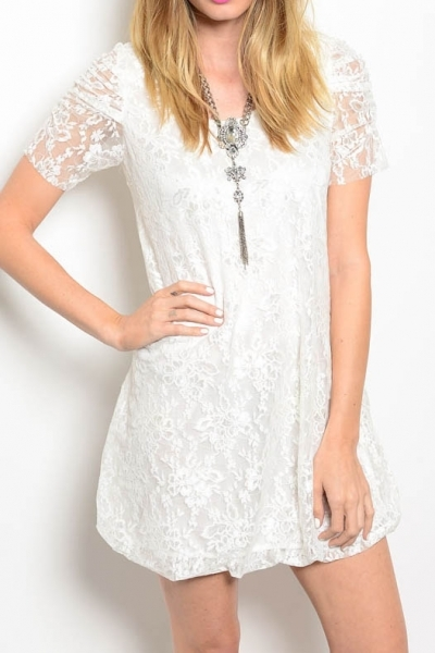 lace white dress